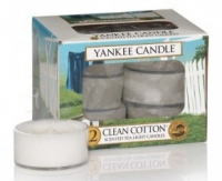 Yankee Candle Clean Cotton 12 x 9,8g